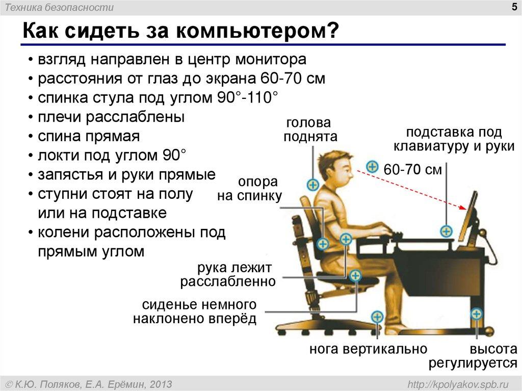 Правила работы на компьютере картинки